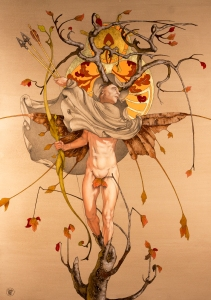 Agretameus, The Angel of Autumn Searching the Sky for His Brother - Alan Cudd photo